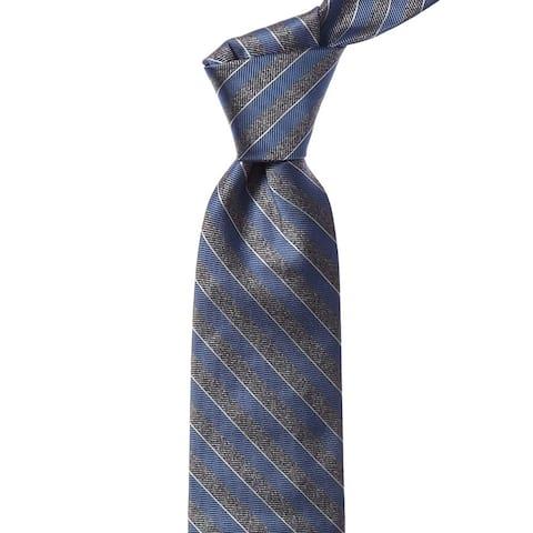 Bonobos Blue Raffia Valley Stripe Silk Tie - os
