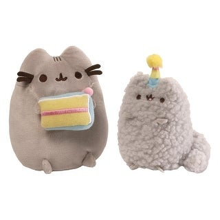 """Pusheen and Stormy Birthday 8.5"""" Plush Collector Set - multi"""