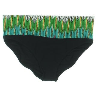 Profile by Gottex Womens Fold-Over Printed Bikini Trunks - 10