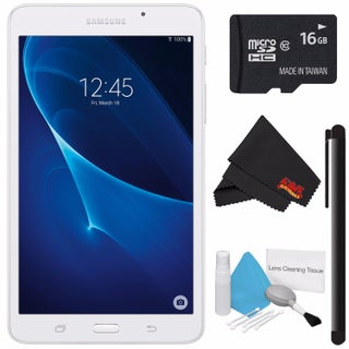 "Samsung 7.0"" Tab A 8GB Tablet (Wi-Fi Only) SM-T280NZKAXAR + 16GB Class 10 Micro SD Memory Card Bundle"