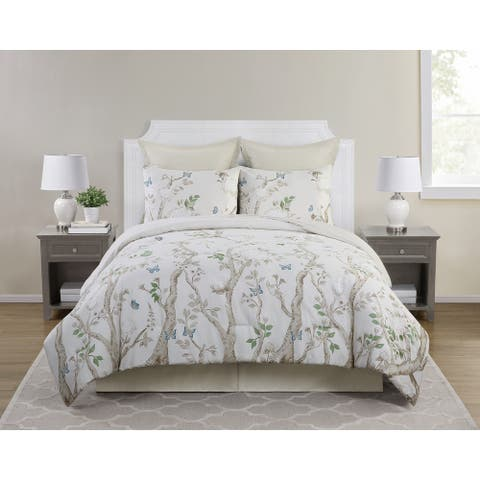 Dream Home Ava Ivory Floral Comforter Set