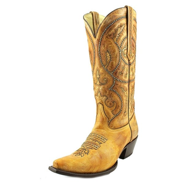 Corral G1279 Women Square Toe Leather Black Western Boot