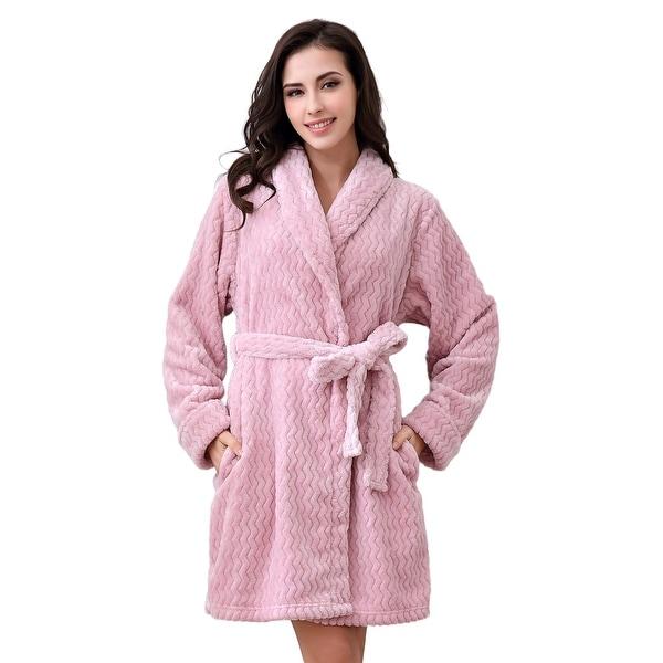 Shop Richie House Women s Soft and Warm Bathrobe Robe - On Sale ... 78664a391