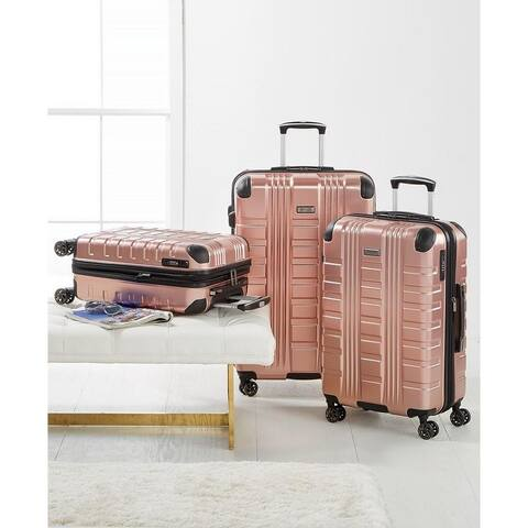 Kenneth Cole Reaction Scotts Corner 28in Hardside PET Expandable 8-Wheel Spinner Checked Luggage with TSA Lock