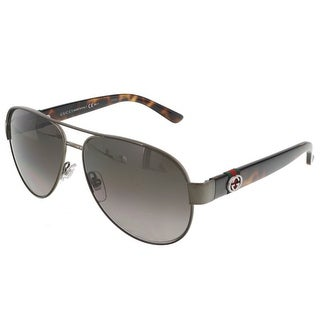 Gucci GG4282/S OPZ Brown/Dark Havana Aviator Sunglasses