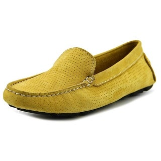 Mercanti Fiorentini 3602 Men Moc Toe Suede Yellow Loafer