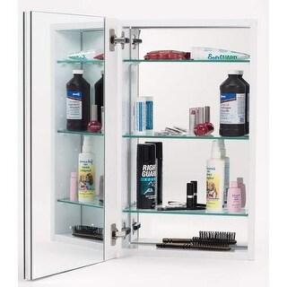 "Alno MC11244 1000 Series 15"" x 25"" Single Door Recessed Medicine Cabinet with Wh"