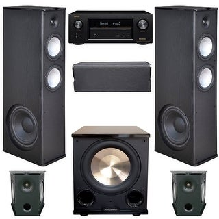 Premier Acoustic 5.1 Home Theater System Bundle with 2 PA-8.12 Towers, 2 PA-8S Surrounds, 1 PA-8C Center, 1 BIC/Acoustech PL-200