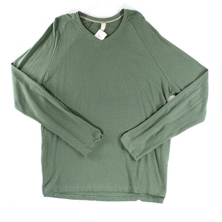 Alternative NEW Solid Green Mens Size 2XL Pullover V-Neck Sweater