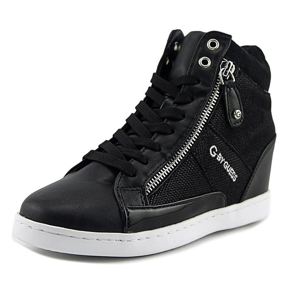 G By Guess Damsel Women Round Toe Canvas Black Sneakers
