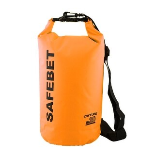 SAFEBET Authorized Water Resistant Bag Dry Sack Orange 20L for Rafting Swimming