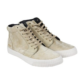 HUF Prime Mens Beige Suede High Top Lace Up Sneakers Shoes
