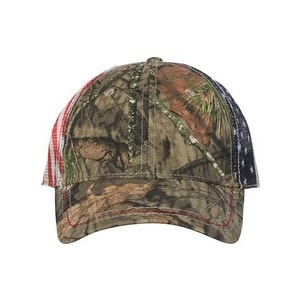 Link to American Flag Mesh Back Camo Cap - Mossy Oak Country - One Size Similar Items in Athletic Clothing