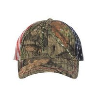 American Flag Mesh Back Camo Cap - Mossy Oak Country - One Size