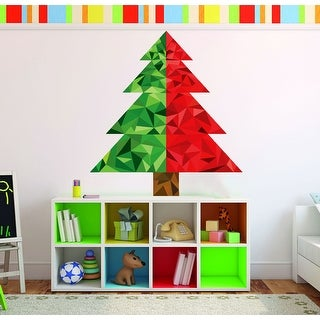 Link to Christmas Tree Polygonal Wall Decal, X-Mas Tree Wall Sticker Similar Items in Intimates