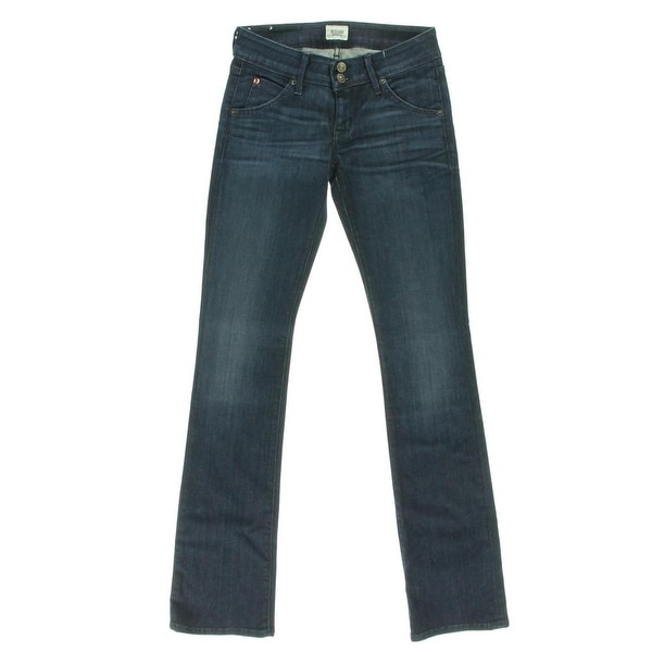Hudson Womens Beth Bootcut Jeans Low-Rise Dark Wash