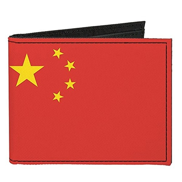 Buckle-Down Canvas Bi-fold Wallet - China Flag Accessory