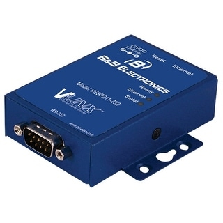 B&B Electronics VESP211-232 B&B 1 PORT MINI SERIAL SERVER, RS-232, US PS - 1 x Network (RJ-45) - 1 x Serial Port - Fast Ethernet