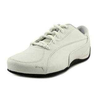 Puma Drift Cat 5 Core Women  Round Toe Canvas White Sneakers
