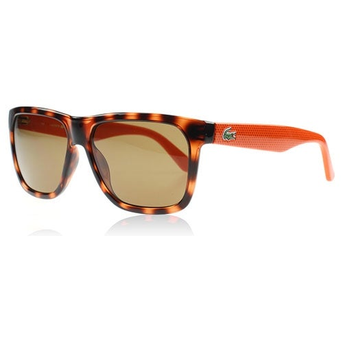 fb4f5287cf Shop Lacoste Unisex Sunglasses L732S-214 Havana Orange Frames Brown Lenses  - Free Shipping Today - Overstock - 13372599