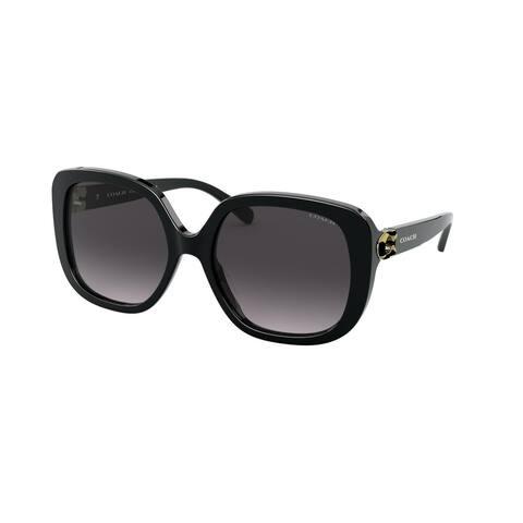 Coach HC8292 50028G 56 Black Woman Square Sunglasses