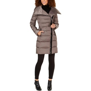 Tahari Womens Brooklyn Puffer Coat Down Asymmetrical
