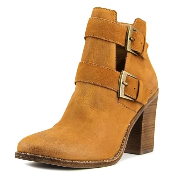 Steve Madden Trevur Women Round Toe Leather Tan Ankle Boot