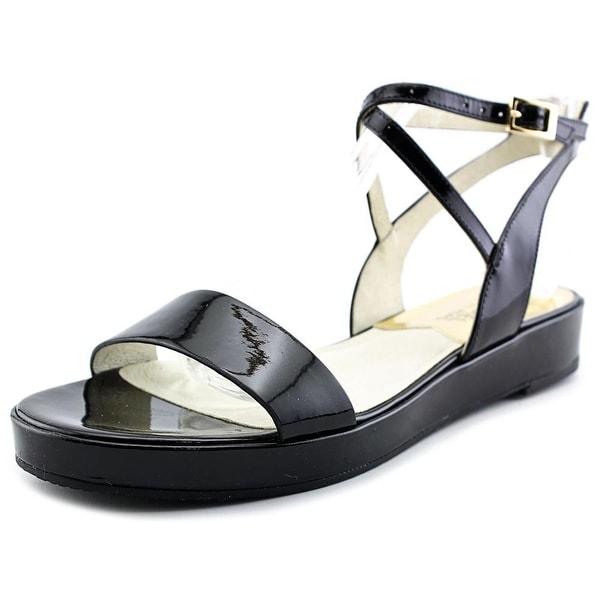 Michael Michael Kors Kaylee Flat Women Open-Toe Patent Leather Slingback Sandal