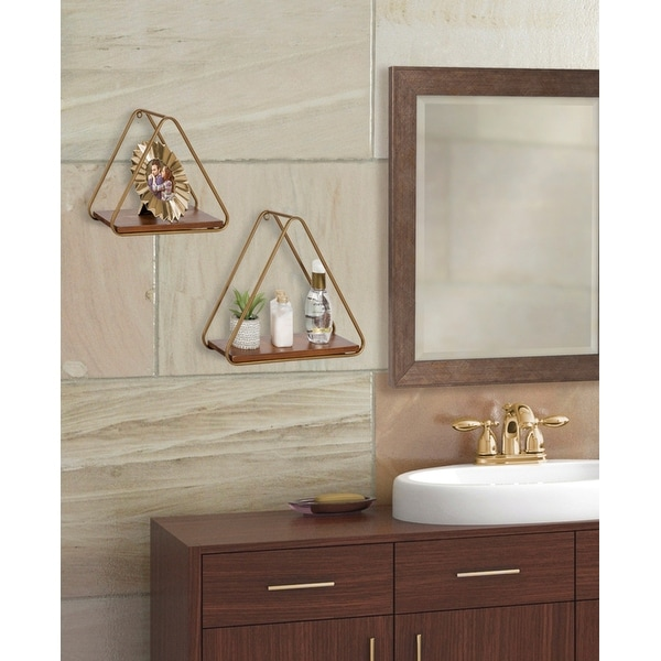 Kate and Laurel Tilde Triangle Accent Shelf Set - 2 Piece. Opens flyout.