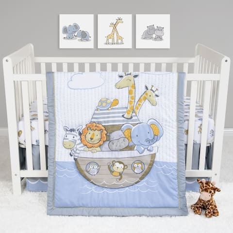 Noah's Ark 4 Piece Crib Bedding Set