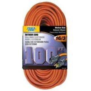 Power Zone OR501635 Extension Cord, 100', Orange