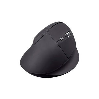 Wireless Ergonomic Optical Mouse, Soft Touch Black
