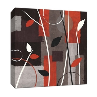 """PTM Images 9-153122  PTM Canvas Collection 12"""" x 12"""" - """"Contrast I"""" Giclee Abstract Art Print on Canvas"""