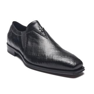 Cesare Paciotti Men Leather Nappa Rete Loafers Black