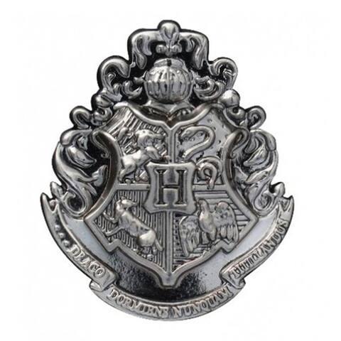 Harry Potter Hogwarts School Crest Pewter Lapel Pin - Grey