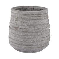 Dimond Home 156-001 Barn Gray Corrugated Pot - light grey stone - N/A