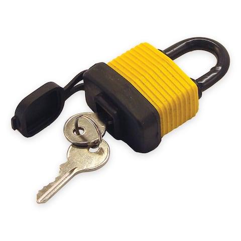Shoreline marine sl52170 padlock covered w/cap 1-1/2