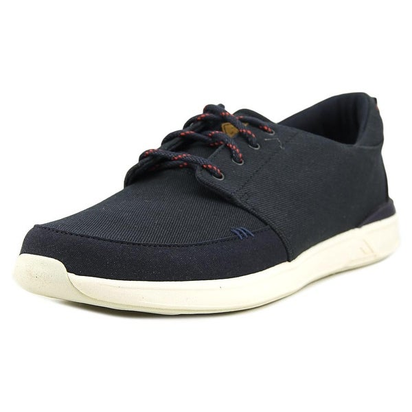 Reef Rover Low Men Round Toe Canvas Blue Sneakers