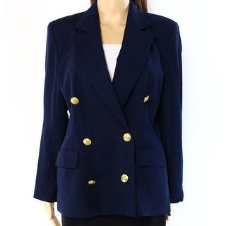 Tommy Hilfiger NEW Navy Blue Womens Size 2 Double Breasted Jacket