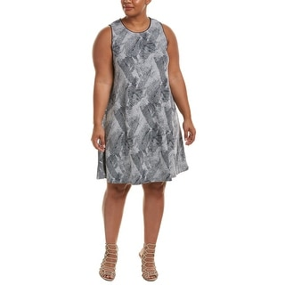 Tart Shift Dress - GREY/NAVY