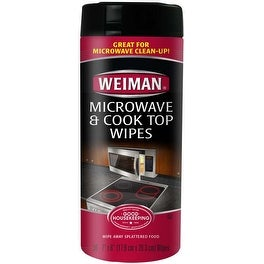 30 Wipes/Pkg - Weiman Microwave & Cook Top Wipes