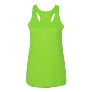 B-Core Women's Racerback Tank Top - Lime - 2XL