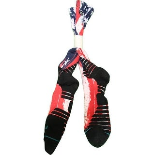 Donald Sloan Socks Brooklyn Nets 201516 Game Used 15 Red White and Blue Socks