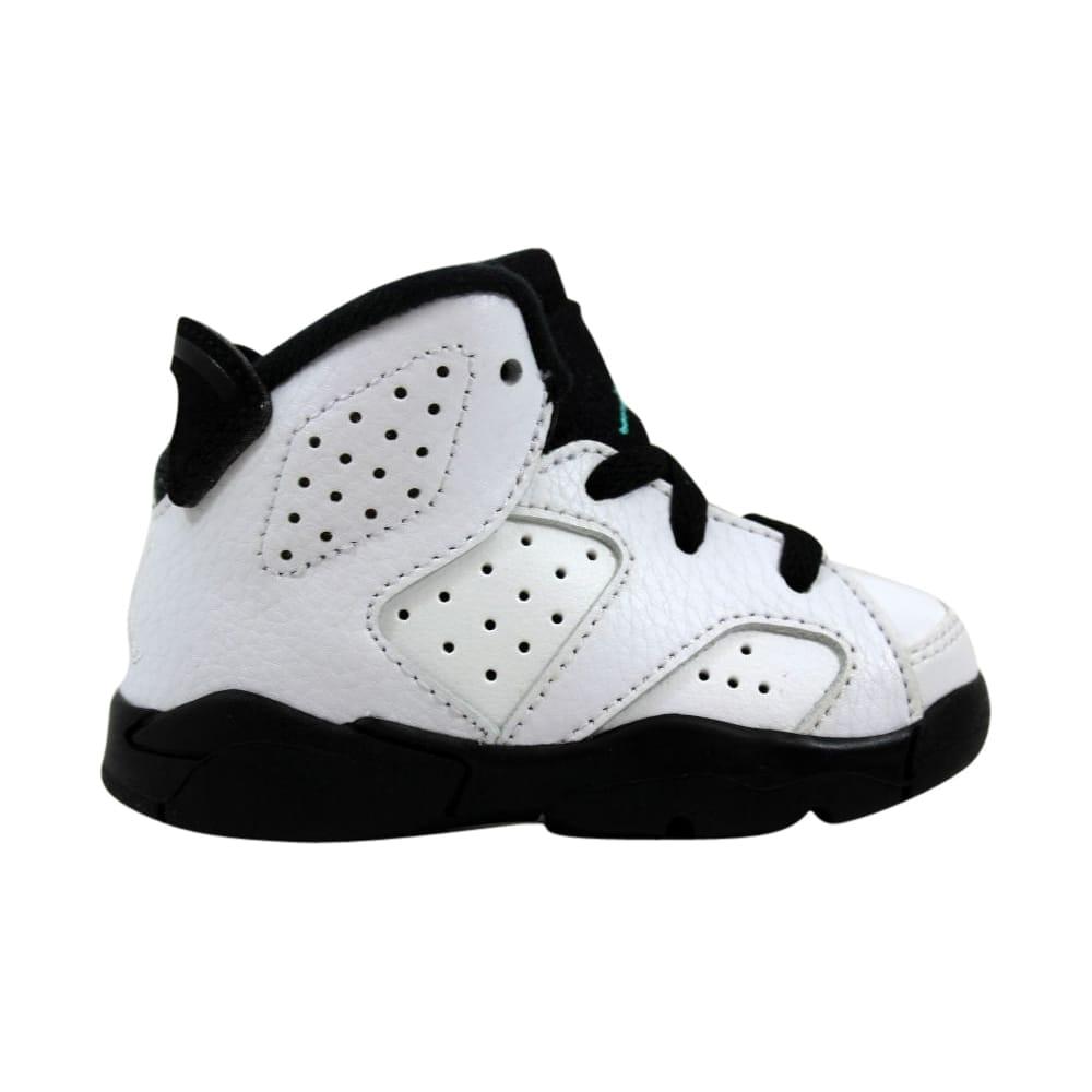 info for 5b8ba eef6e Nike Toddler Air Jordan VI 6 Retro BT White/White-Hyper Jade-Black  384667-122