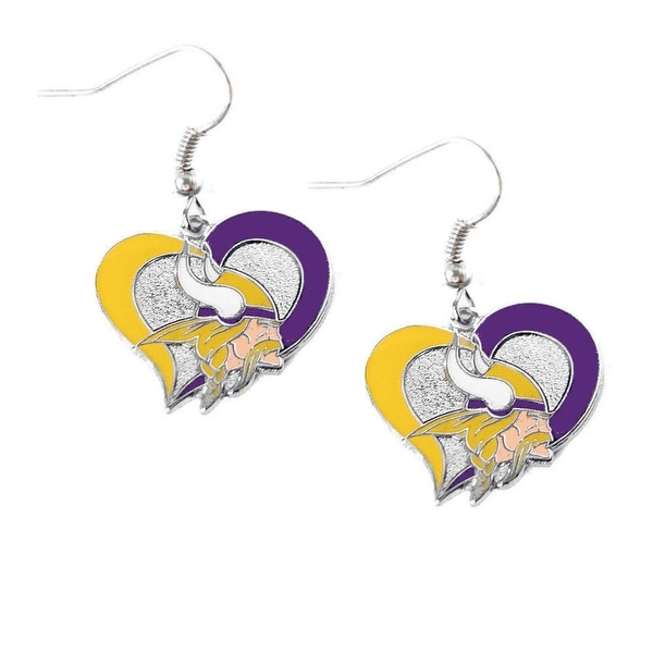 Shop Minnesota Vikings Swirl Heart Earring NFL Dangle Logo Charm Gift - Free  Shipping On Orders Over  45 - Overstock.com - 23509704 062314e00
