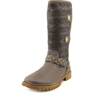 Muk Luks Gayle Women Round Toe Synthetic Brown Mid Calf Boot