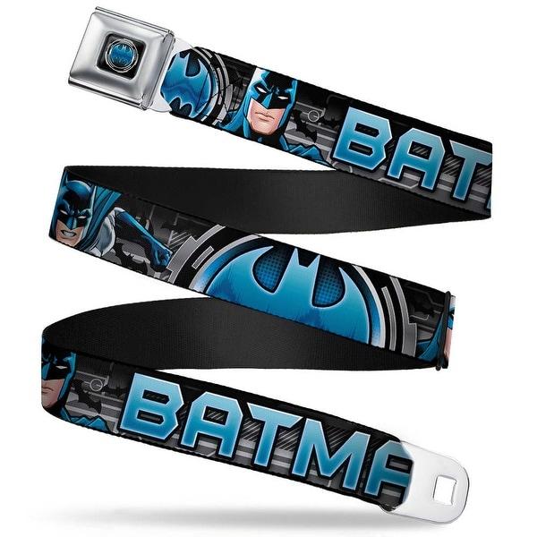 Bat Signal Full Color Black Gray Blues Batman Poses Bat Signal Close Up Seatbelt Belt