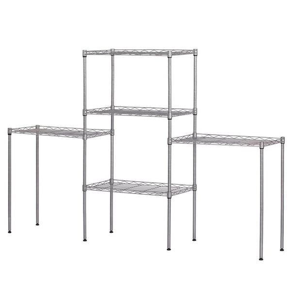 5 Tier Height Adjustable Storage Shelves Metal Wire Shelving. Opens flyout.