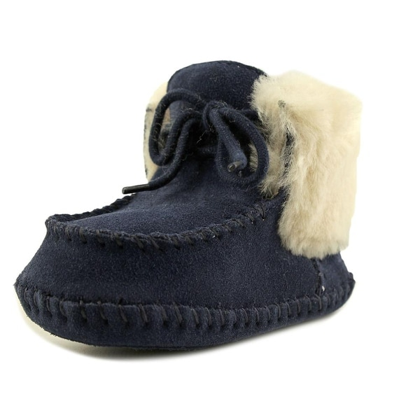 Ugg Australia Sparrow Infant Round Toe Suede Blue Snow Boot