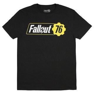 Fallout 76 Shirt Men's Adult Video Game Logo Black T-Shirt